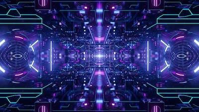 Techno Light Tunnel