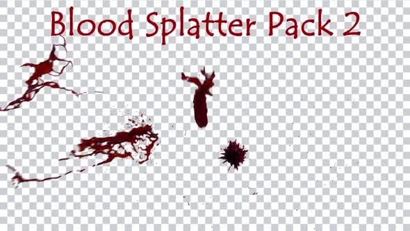 Blood Splatter Pack 2 4K