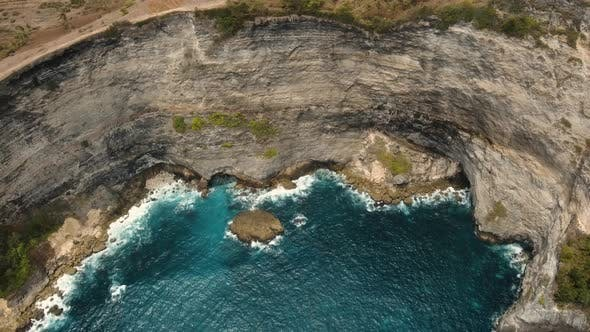 Thumbnail for Cliffs Sea and Waves at Nusa Penida Bali Indonesia
