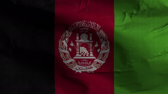 Thumbnail for Afghanistan Flag Textured Waving Background 4K