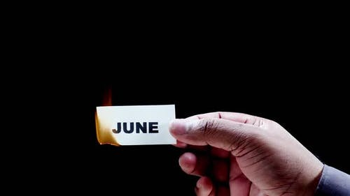 Burning Paper Writing June