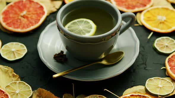 Cover Image for Cup of Tea with Lemon and Spoon