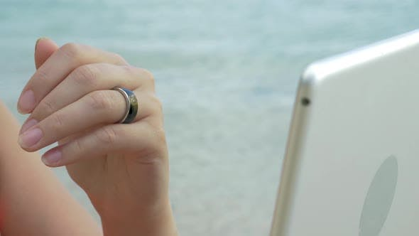 Thumbnail for Woman Using Smart Ring To Control Computer