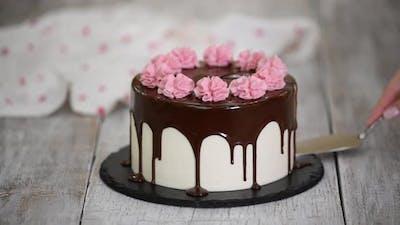 Delicious Homemade Cherry Cake