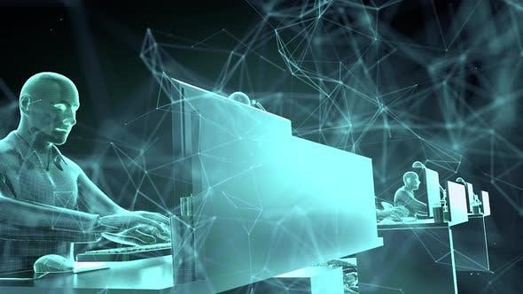 Digital Cyber Workers Bots 4k