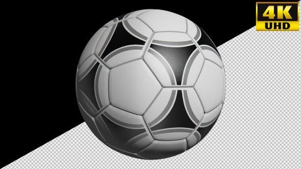 Football Soccer Ball On Alpha Channel Loops Pack V2