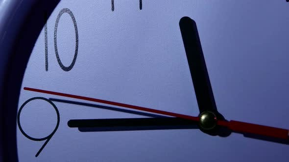 Thumbnail for Photo of Clock Showing Several Minutes To Noon, Night