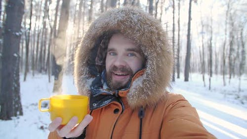 Winter Tourism and Hiking Concept