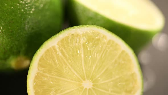 Thumbnail for Green Lime Cut Before Squeezing Refreshing Energetic Juice, Healthy Lifestyle