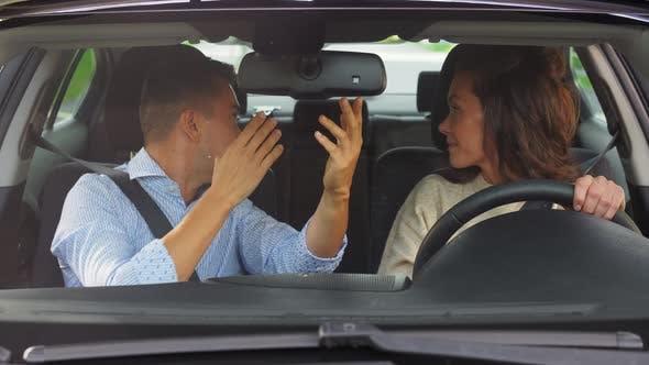 Thumbnail for Car Driving School Instructor Teaching Woman