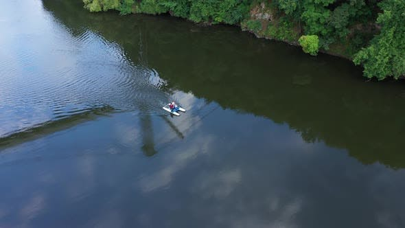 Catamaran On The River