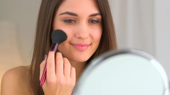 Thumbnail for Beautiful woman applying makeup