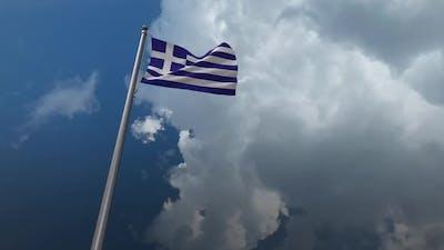 Greece Flag Waving 2K