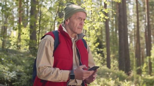 Thumbnail for Portrait of Retired Hiker in Forest