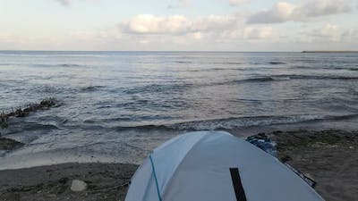 Holiday Camping Tent Aerial View
