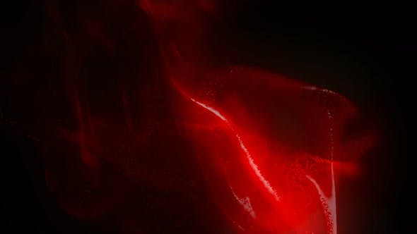 Red Magic Fluid Particles Background Loop
