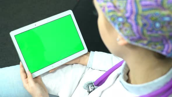 Thumbnail for Doctor Use Tablet with Green Screen