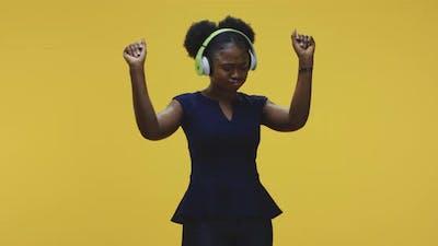 Woman Dancing with Headphones