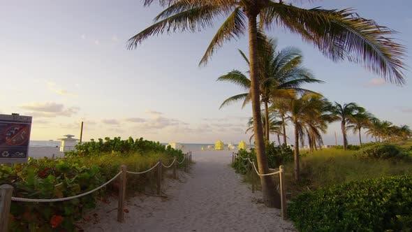 Sand walkway on the beach