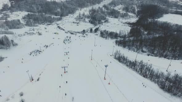 Thumbnail for Ski Resort in the Winter Season. Aerial View.