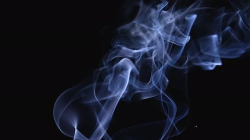 Abstract White Smoke in Slow Motion