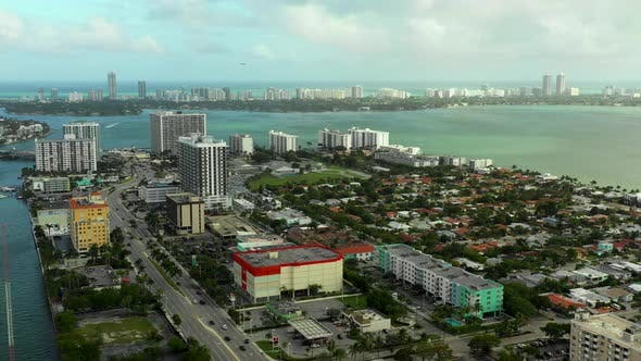 Thumbnail for Drone shot Miami Beach North Bay Village neighborhoods