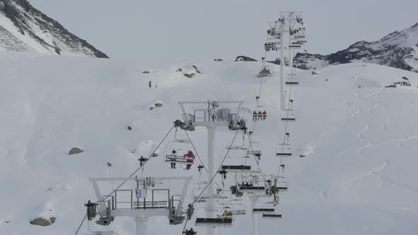 Thumbnail for Chairlifts at a ski resort