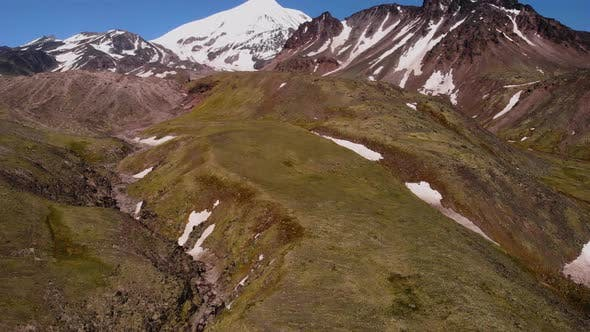 Thumbnail for View From the Drone - Ichinskaya Volcano Volcano, Impressive Volcanic Landscape in Kamchatka, Russia