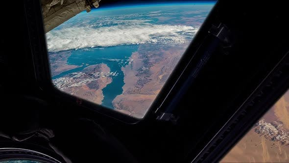 Thumbnail for View of Arabia, Egypt and the Red Sea from the International Space Station.