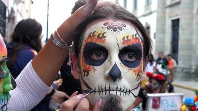 Halloween Day of the Dead Spectacular Makeup Party Mask