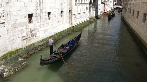 Thumbnail for Gondolas Going in Canals in Venice Italy