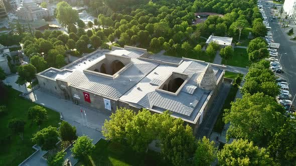 Thumbnail for Aerial View On City Historical Museum With Tress