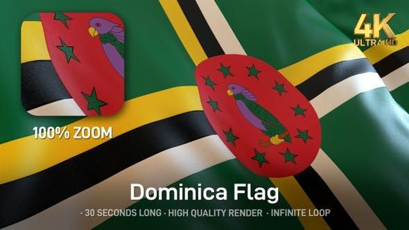 Thumbnail for Dominica Flag - 4K