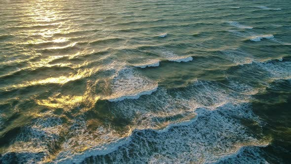Cover Image for Sea Waves on the Beautiful Morning Sea