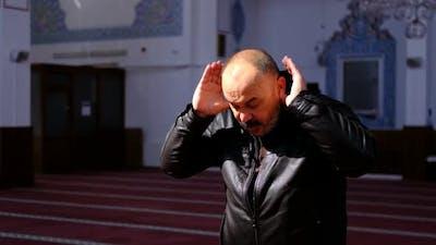 Mosque Prayer Old Man