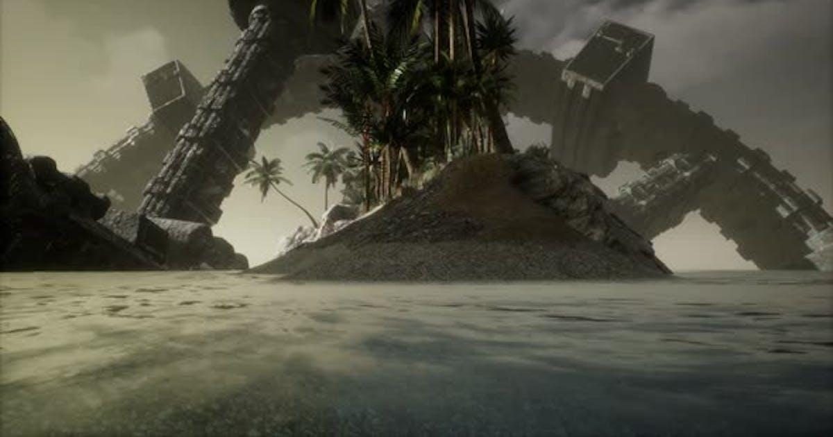 UFO Crashed in the Ocean Near Tropical Island