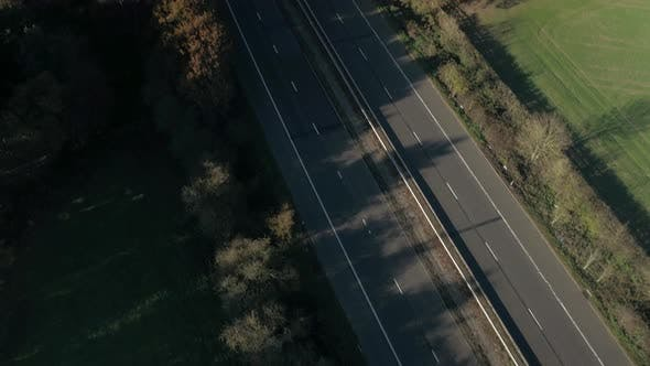 UK Motorway A Road System From the Air