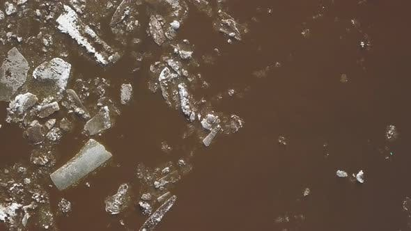 Thumbnail for The Ice Floes Floating on the River, The Ice Drift in Spring Time