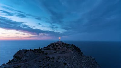 The Lighthouse of Formentor During the Blue Hour