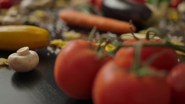 Thumbnail for Fresh Vegetables for Vegetarian Pasta Preparation