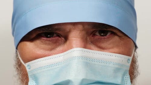 doctor in a disposable medical mask