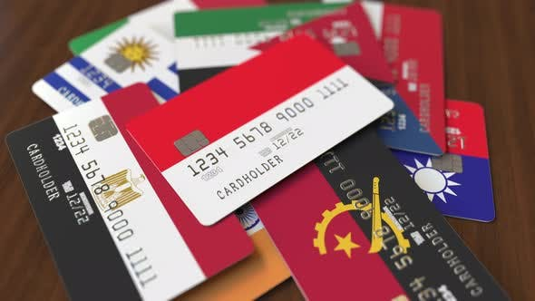 Thumbnail for Emphasized Bank Card with Flag of Indonesia