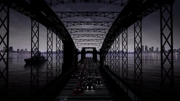 Thumbnail for Night Traffic On The Bridge