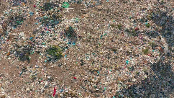 Thumbnail for Aerial View. Garbage Pile in Trash Dump. Environmental Pollution From Consumerism Household