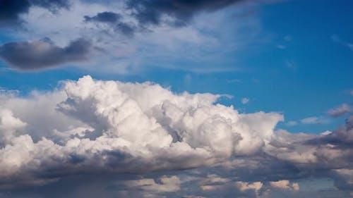Big cumulus clouds, 4K