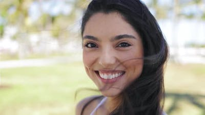 Young Smiling Model in Close-up