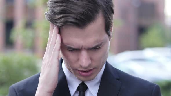 Thumbnail for Frustration, Tension, Stress Gesture by  Businessman with  Headache