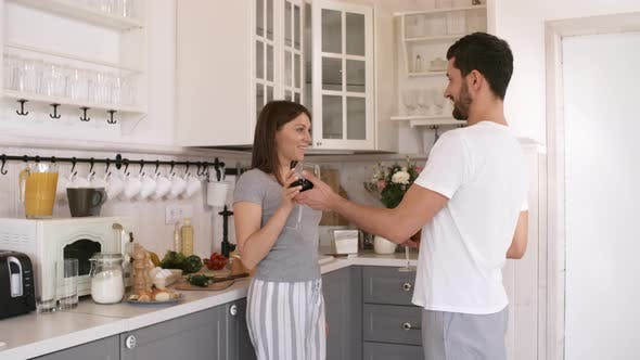Thumbnail for Couple Drinking Wine in Morning