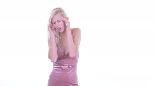 Thumbnail for Stressed Young Blonde Woman Having Headache