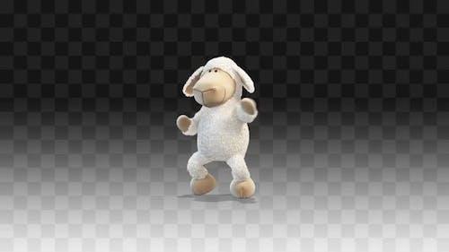 Plush Little Lamp  Dancing A Funny Dance Around Him